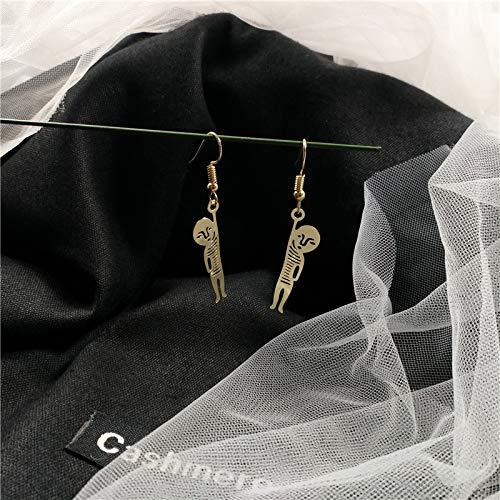 Earrings Home Orecchini Solitario Cattivo Divertente nicchia Unica cavità Orecchini in Metallo Piccoli Orecchini Orecchio Orecchio Trafitto Femminile