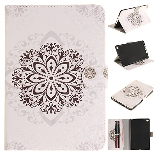 BONROY ® Tablet Apple iPad Mini 4 Hülle Etui Case Mode gemalt Muster Telefon-Kasten mit Standfunktion Karteneinschub und Magnetverschluß für Apple iPad Mini 4