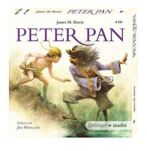 Peter Pan (4 CD): Leicht gekürzte Lesung mit Musik, ca. 300 Min. KLASSIKER-Reihe