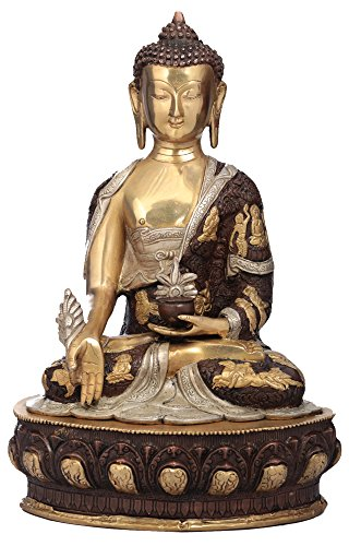 Exotic India Medizin Buddha – Messing Statue