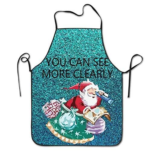Santa Claus Lady Kostüm - HTETRERW Christmas Santa Claus Women's Funny Creative Print Cooking Aprons