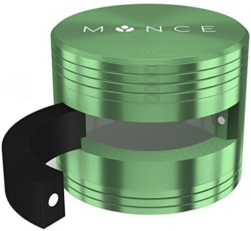 mynce-premium-weed-grinder-mit-seitentur-inkl-bonus-e-books-und-schaber-oe61mm-3-teiliger-high-end-c