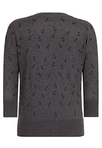 Naketano Female Knit Maja Big Anchor IV Dark Grey Melange