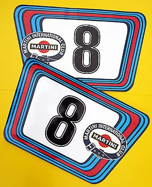Vintage Stil Klassisches Auto Martini Rennnummern Ideal Für Porsche Aston Jaguar Auto
