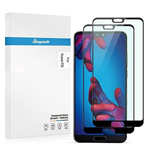 Beyeah [2 Stück Displayschutzfolie für Huawei P20 schutzfolie, Perfekt verbesserte Version, Full Glue Coverage, 9H Härte, (Schwarz) -