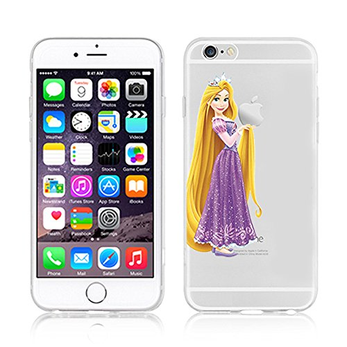 NEW Disney PRINCESSES Transparent TPU Soft case for Apple Iphone 7 RAPUNZEL