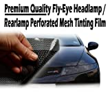 Tis (TM) 5mètres x 106cm pour phare avant/arrière Noir clair perforé Vitrage en maille Film. Comme fly-eye/flyeye/SPI Vision. 100% Route juridique mot teinte conforme aux normes.