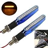 OSAN 2x Motorrad Universal 12 LED Blinker Richtungsanzeiger Richtungslichter Signal