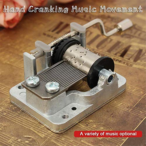 CARDMOE 18 Noten Mechanismus, Handkurbel, Spieluhr, Uhrwerk mit Gear DIY Musikbox Melody for Beauty and The Beast