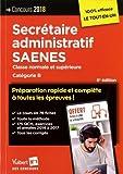 Concours secrétaire administratif et saenes, catégorie B