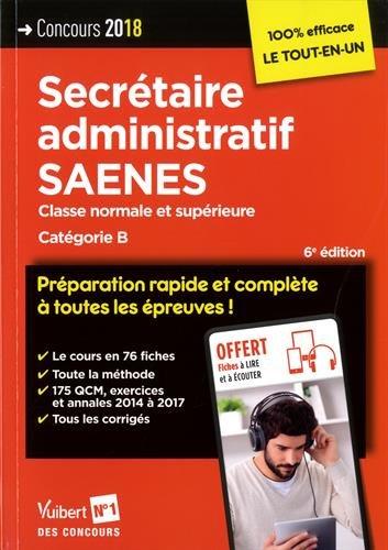 Concours secrétaire administratif et saenes, catégorie B par Collectif