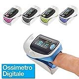 081 Store - Saturimetro Pulsossimetro da Dito Professionale con Display OLED per...