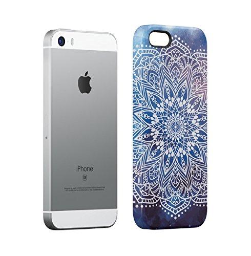 Buddha, Hamsa, Ganesh, Mandala Hindu Pattern Apple iPhone 5 , iPhone 5S , iPhone SE Snap-On Hard Plastic Protective Shell Case Cover Custodia Yoga