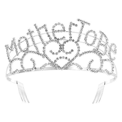 Crown, Crystal Strass Mutter Herzen Herz für Baby Shower Party Mom Geschenk sein ()