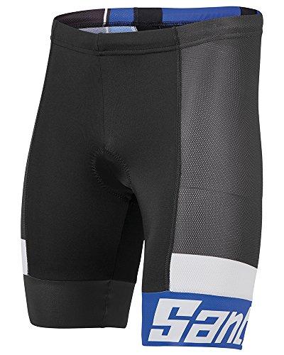 Santini Fashion Sleek Aero Short, schwarz Black/Royal Blue M
