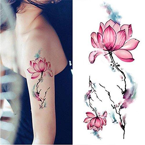 coulorbuttons 1Bogen Wasserdicht temporäre Tattoo Aufkleber DIY Arm BODY ART Aufkleber Watercolor (Female Piercing Ideen)