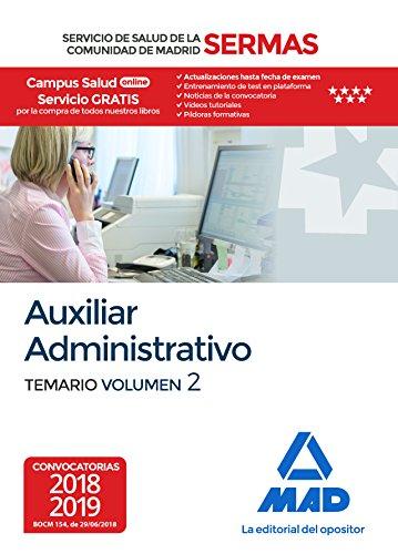 Auxiliar Administrativo del Servicio de Salud de la Comunidad de Madrid. Temario Volumen 2