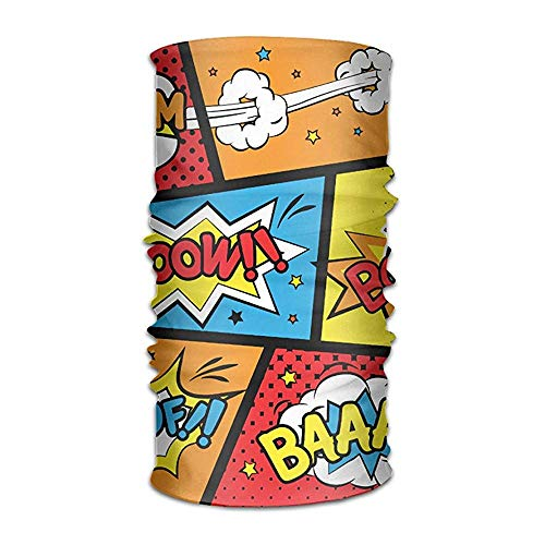 KENTONG Hill Comic Graffiti Boom Headwear Bandanas Seamless Headscarf Outdoor Sport Headdress Running Riding Skiing Hiking Headbands - Big Boom Bat