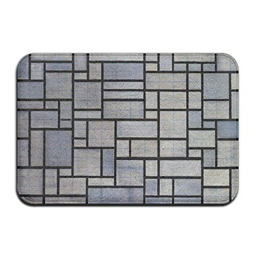 Vidmkeo Square Ceramic Tile Floor Box Funny Doormats Doormat Indoor Washable Outdoor doormats...