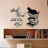 Libri e amici dovrebbero essere pochi ma buoni adesivi murali Wall Art per la decorazione domestica38 * 56cm