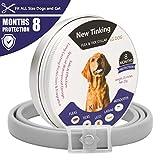 LAOYE Collar de pulgas - 8 Meses de protección el Collar de Perro con Longitud Ajustable para Todas...