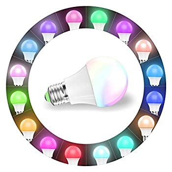 Magic Hue Led Mini Wifi Rgbw Gegenwert 40w Lampe, Dimmbar Energiesparlampen Mit Amazon Echo Alexa, Google Home, Ifttt, Sunrise 16 Mio Farben Leuchtmittel Sonnenaufgang E27 Für Android Und Ios 4
