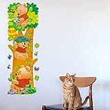 JUNMAONO Winnie The Pooh Wandaufkleber/Wandgemälde/Wand Poster/Wandbild Aufkleber/Wandbilder/Wandtattoo/Pinupbild/Beschriftung/Pad einfügen/Tapete/Tapezieren/Tapeten/Wand Zeitung/Wandmalerei/Haftnotiz/Fühlen Sie sich frei zu kleben/Instant Aufkleber/3D-Stereo-Wandaufkleber