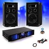 etc-shop 2400W PA Musikanlage Komplettanlage Boxen Lautsprecher Verstärker Endstufe DJ-28