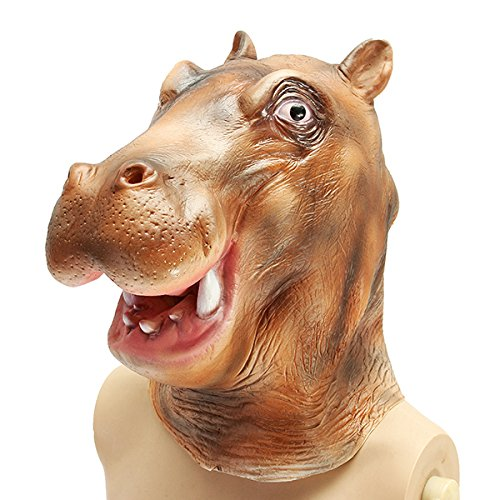 JenNiFer Hippo River Horse Mask Creepy Animal Halloween Kostüm Theater Prop Party Cosplay