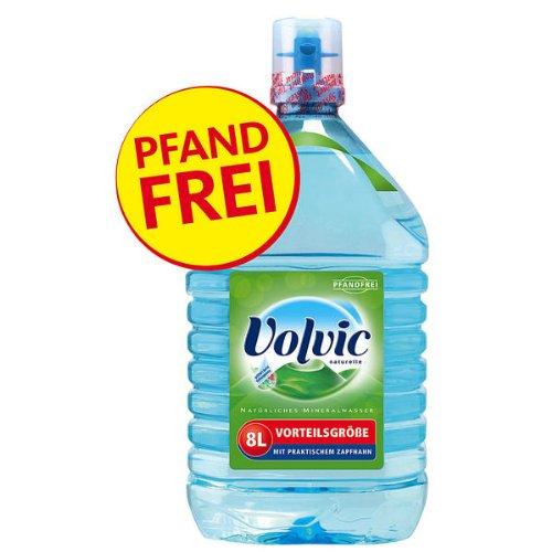 Volvic Natürliches Mineralwasser 1 x 8 Liter Kanister Vorteilsgröße Pfandfrei