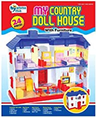 Mamma Mia My Country Doll House with Furniture 24pcs , by Krasa