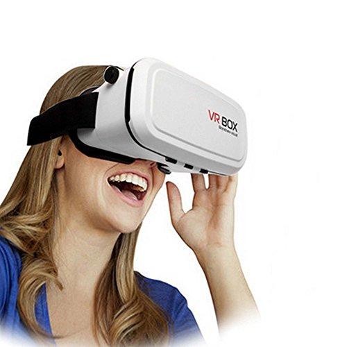Preisvergleich Produktbild VR-3D Brille,  Virtual Reality für 4, 7 bis 6, 5 Zoll Smartphone Modelle wie z.B. Samsung Galaxy S5,  S6,  S7, Edge Plus,  iPhone 5,  6,  7,  Plus und HTC M9,  M10,  One u.v.a.,  Neu