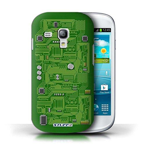 Kobalt® Imprimé Etui / Coque pour Samsung Galaxy S3 Mini / Vert conception / Série Circuit Board Vert