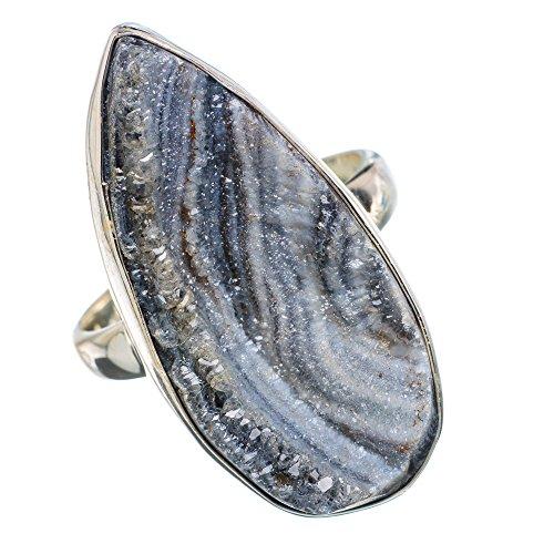 Drusen 925 Sterling Silber Ring 9.5 (Druzy-ring)