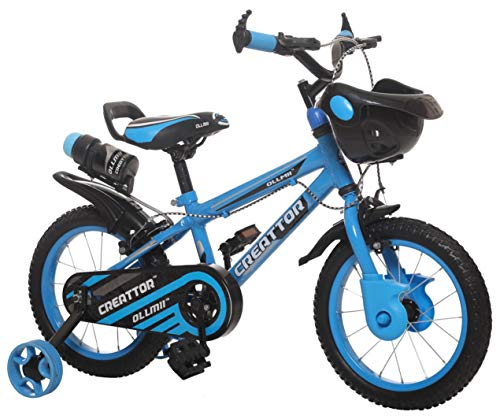 Ollmii Bikes Creattor 14 inches Steel Rim Sky Blue BMX Kids Cycle for 3 to 5 Years