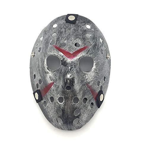 VAWAA Party Masken Jason Voorhees Beängstigend Prop Hockey Cosplay Gruselige Maske Freitag 13. Nizza (Jason Gesicht Voorhees)