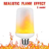 gezee LED-Flamme Effekt Leuchtmittel mit 3Modi, E27Sockel 1300K, flackernde Fire Vintage Flaming Atmosphäre Deko Lampen für Home, Weihnachten, Valentinstag und Partys (1Pack)