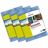 ALCLEAR 820203U Poliertücher 2-Seiten-Allrounder Premium ohne Hologramme, für Auto Yachting und Poliermaschine, 40 x 40 cm, blau ,3er Set