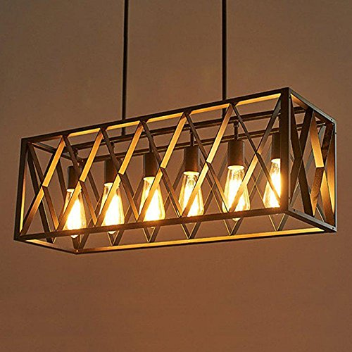 6 Licht Nordic Kreative Persönlichkeit Retro Beleuchtung Restaurant Lichter Bar stil Eisen industrie Kronleuchter für Wohnzimmer 110 V