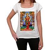 Lakshmi T-shirt Femme,Blanc, t shirt femme,cadeau
