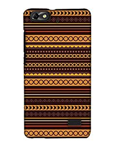 PrintHaat 3D Hard Polycarbonate Designer Back Case Cover for Huawei Honor 4C :: Huawei G Play Mini (designer pattern :: decorative design :: zig zag design :: multicolor design :: latest trendy design :: excellent drawing design :: good looking art design :: in black, green, red, blue and yellow)