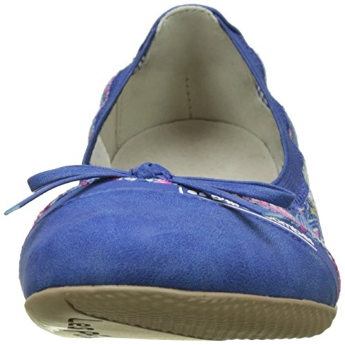 Les P'tites Bombes Damen Caprice Slingback Ballerinas Bleu (Bleu)