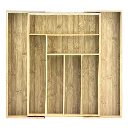 Unbekannt Totally Bamboo BA202043 Besteckkasten, ausziehbar 46 x 32 cm, Accessoires -