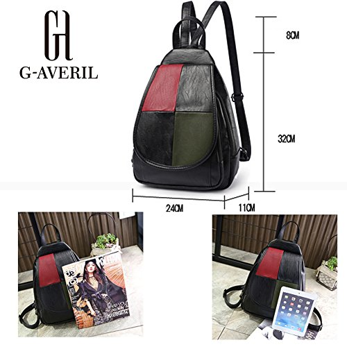 G-AVERIL GA1162-B1, Borsa a zainetto donna Black1 Silvery
