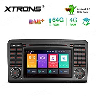 XTRONS-7-Android-Octa-Core-4GB-RAM-64GB-ROM-Autoradio-mit-Touchscreen-Android-90-DVD-Player-Autostereo-untersttzt-3G-4G-Bluetooth-DAB-OBD2-CAR-Auto-Play-TPMS-FR-Mercedes-Benz-W164-X164
