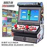 Mini Arcade Game Machine, 300 Classic Handheld Games FC Máquina portátil para niños con Pantalla LCD con protección Ocular de 4.3', 8 bits