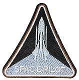 MissBirdler Space Pilot Astronaut Aufbügler Jeans Stoff Kleidung Weltraum Applikation Bügelbild Mund Patch DIY Pailletten für Textilien 9 x 9 cm
