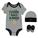 Nike Baby Jungen (0-24 Monate) Body Grau grau Gr. 6-12 Monate, grau