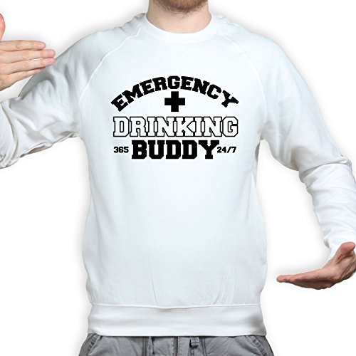 Emergency Drinking Glass Beer Buddy Funny Pullover