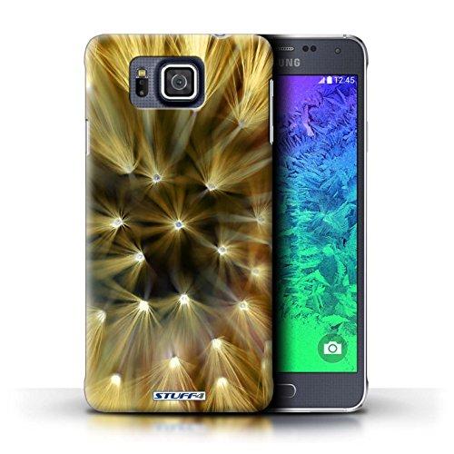 Kobalt® Imprimé Etui / Coque pour Samsung Galaxy Alpha / Rose conception / Série Couleur/Lumière Fleur Jaune